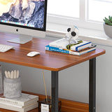 Rectangle Wooden  Desktop Study Table With Shelf