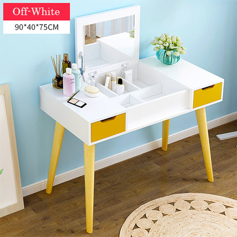 Dressing Makeup Table With Fold Down Mirror  - 90cm