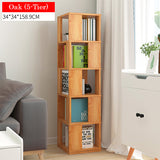 Rotating Wooden Storage Bookshelf-5 Tier