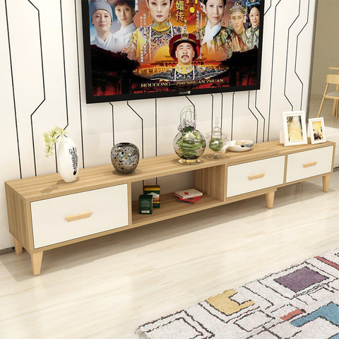 Length Adjustable TV Console with 3 Drawers (140-210cm)