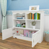 White Classic Wooden Cabinet-97CM With Doors