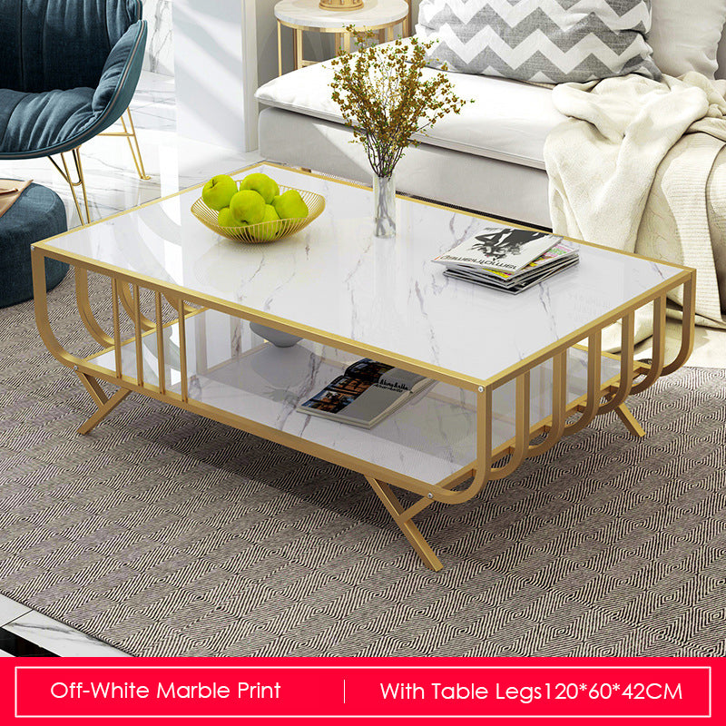 Modern Marble Print Coffee Tables With Legs