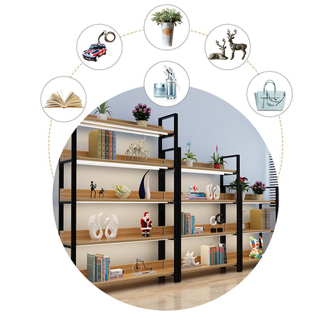 Wooden 5 Tier Storage Shelves Rack - 120cm