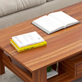 Double-Tiers Wooden Coffee Table