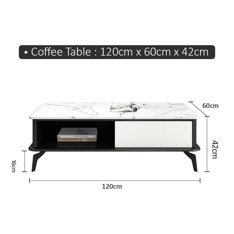 Premium Minimalist Marble Top TV Console /Coffee Table