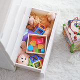 4-Tier Wooden Top Plastic Drawer Storage Cabinet - Length 55cm