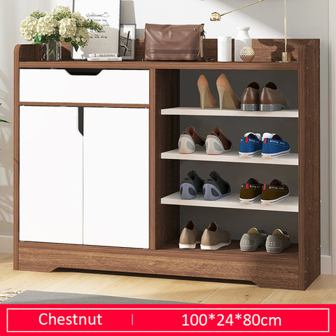 Modern Style Wooden Shoe Cabinet With Drawer- 100cm