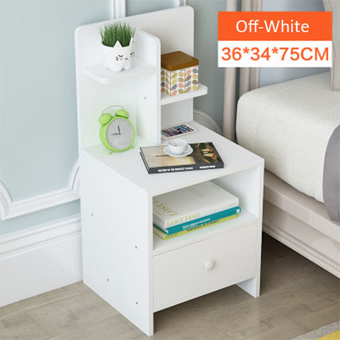Wooden Bedside Table With One Drawer