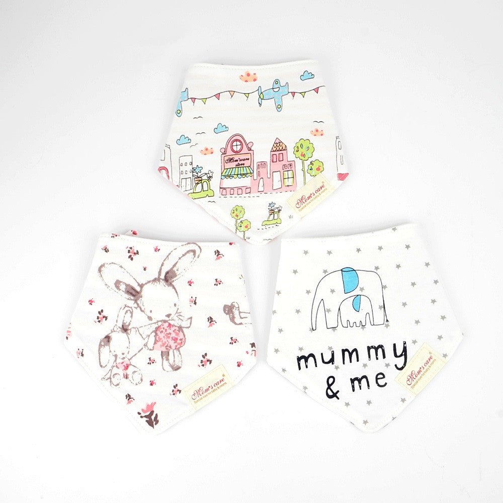 Little Bunny & Houses Reversible Bib Set of 3