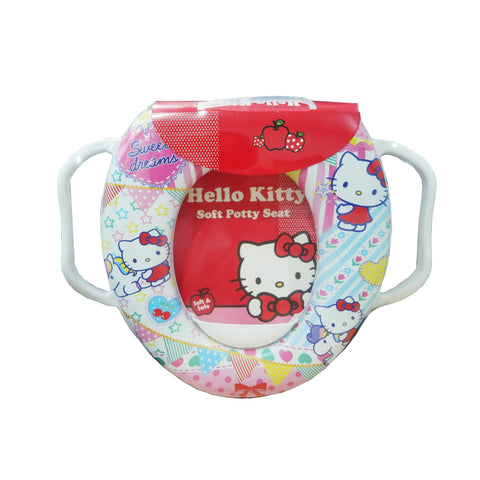 Cushion Baby Potty Seat With Handle - Hello Kitty 3