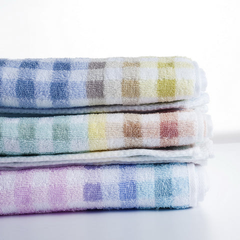 Nastex Japan Famille Gradation Gingham, Hair Towel, 107 x 34 cm