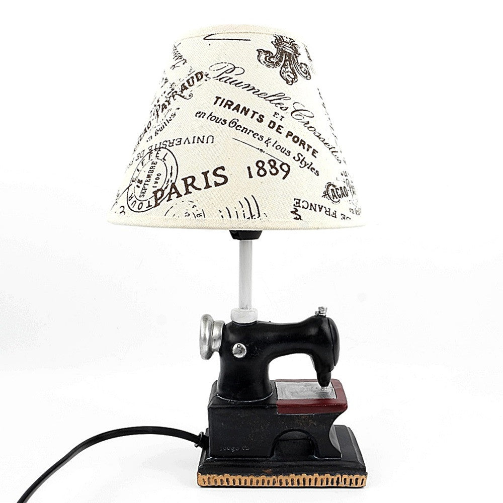 Retro Sewing Machine Lamp