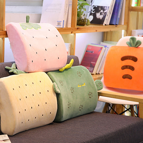 Cartoon Memory Foam Bamboo Charcoal Lumbar Pillow