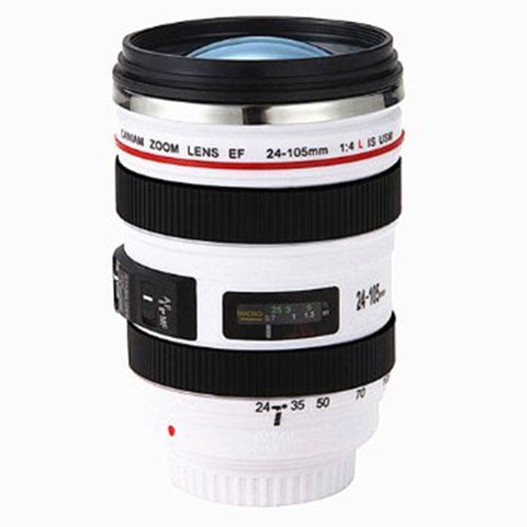 Camera Stainless Lens Cup Coffee Mug (Multicolor)
