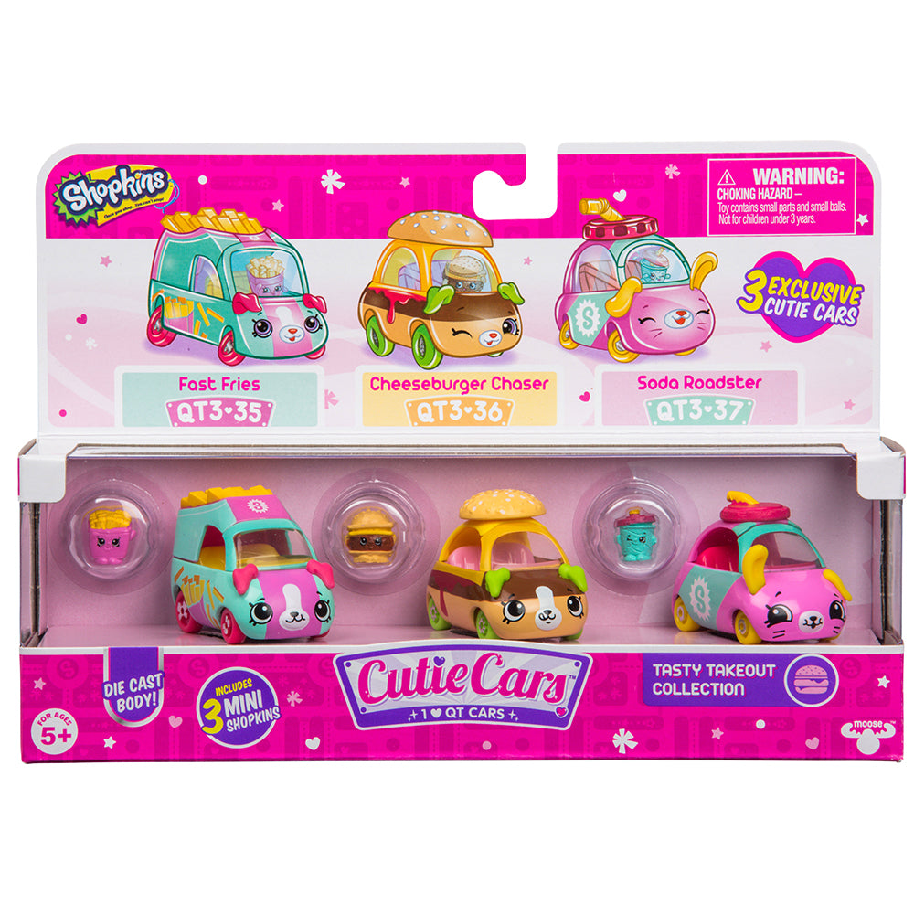 Shopkins Cutie Cars Tasty Takeout Collection 3-Pack