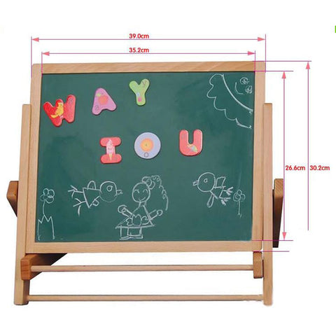 Double-Sided Magnetic Painting Easel For Kids