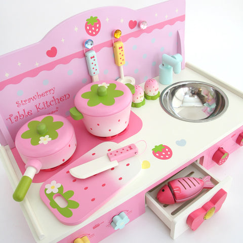 Mother Garden Strawberry Table Kitchen Set