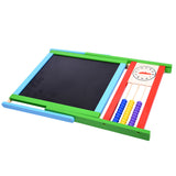 Double-Sided Blackboard and Whiteboard Easel