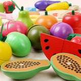 61 Pcs Wooden Cutting Fruit Set