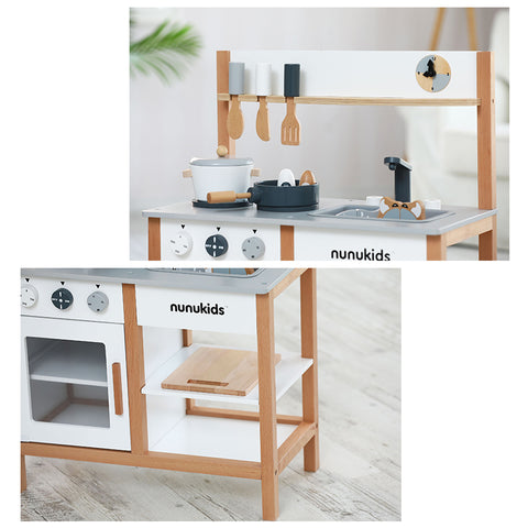 Nunukids Wooden Play Kitchen Set