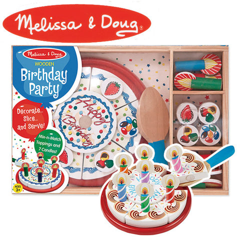 Melissa & Doug Wooden Birthday Party Cake