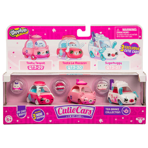 Shopkins Cutie Cars Tea Brake Collection 3-Pack