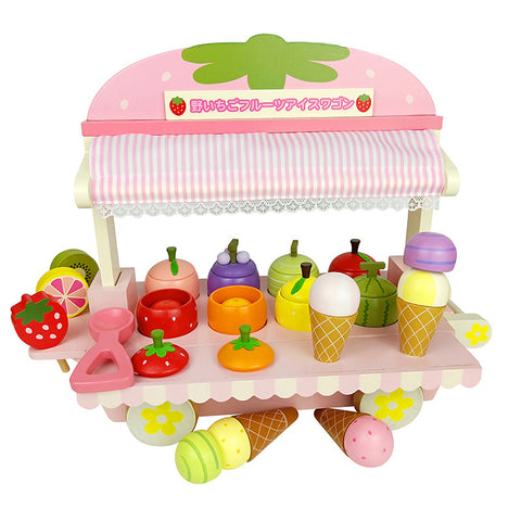 Mother Garden Strawberry Ice Cream Trolley Set