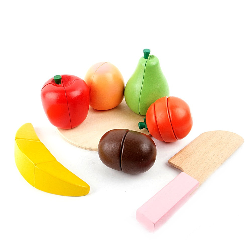 Woody Puddy Fruit Plate Toy Set