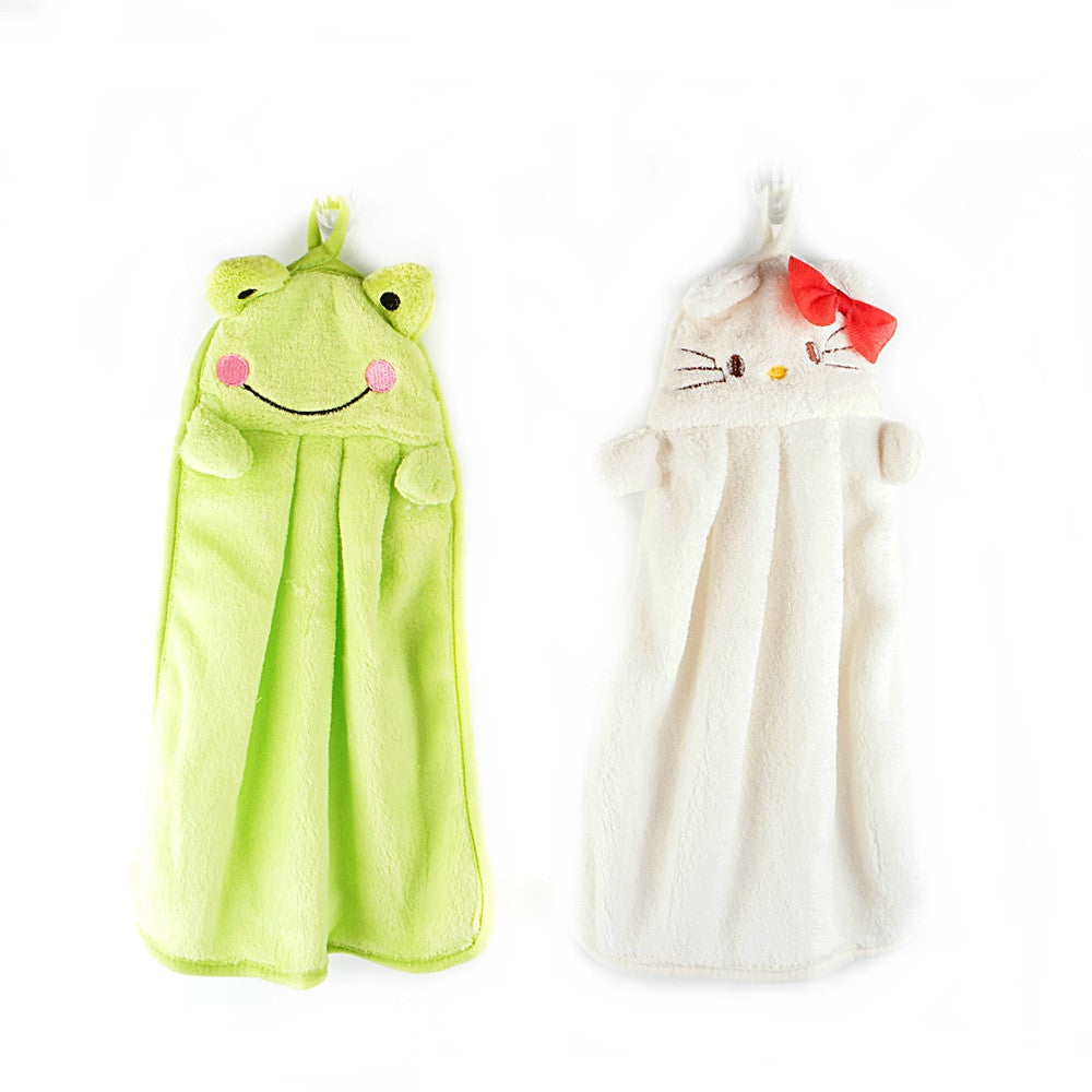 Frog & Kitty Hand Towel