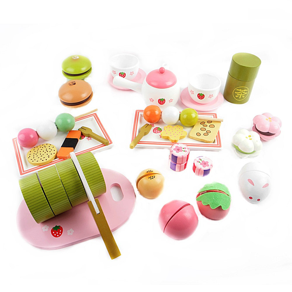 Mother Garden Japanese Wooden Matcha Tea Play Set