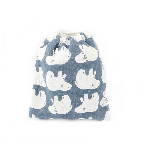Polar Bear Canvas Pouch