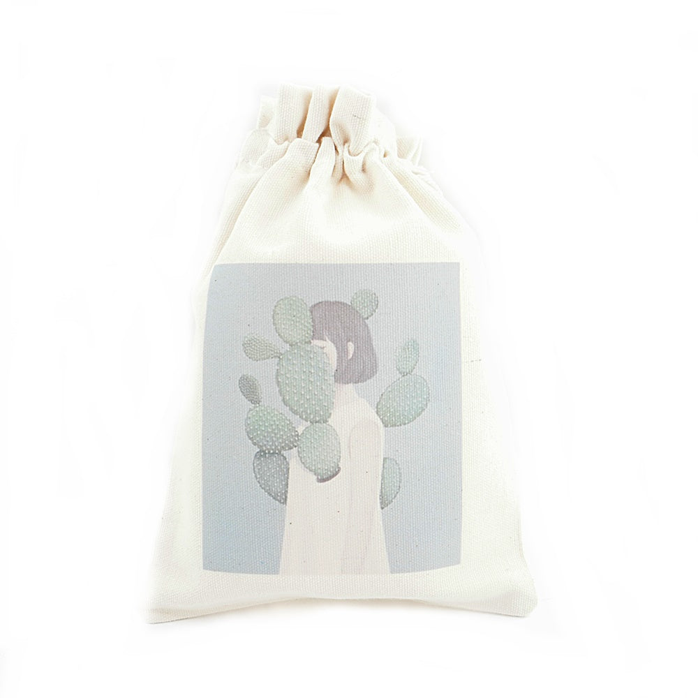 Covering Cactus Canvas Pouch
