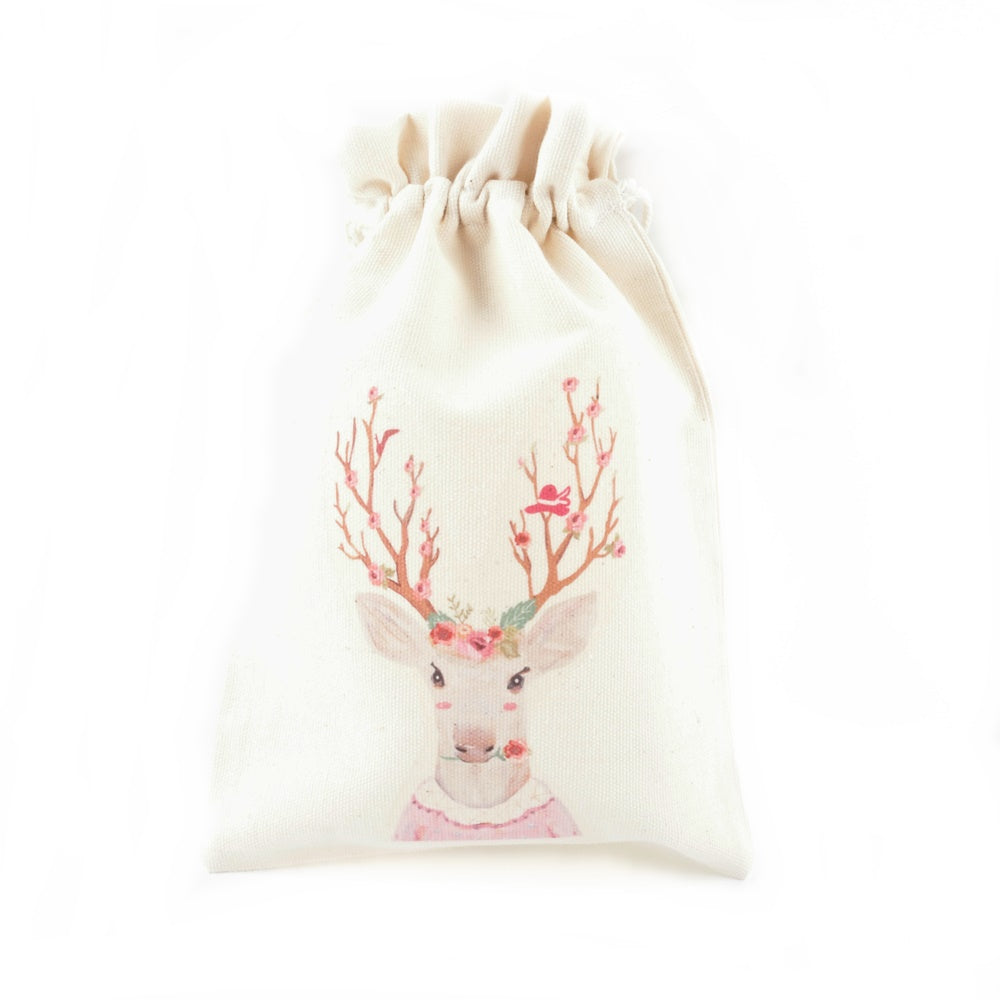 Reindeer Lady Canvas Pouch