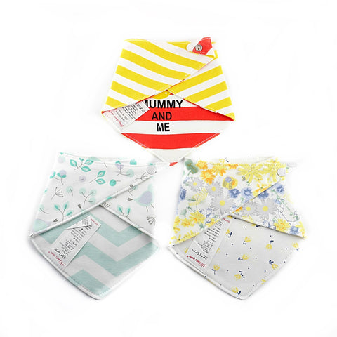 Flowers & Birds Reversible Bib Set of 3