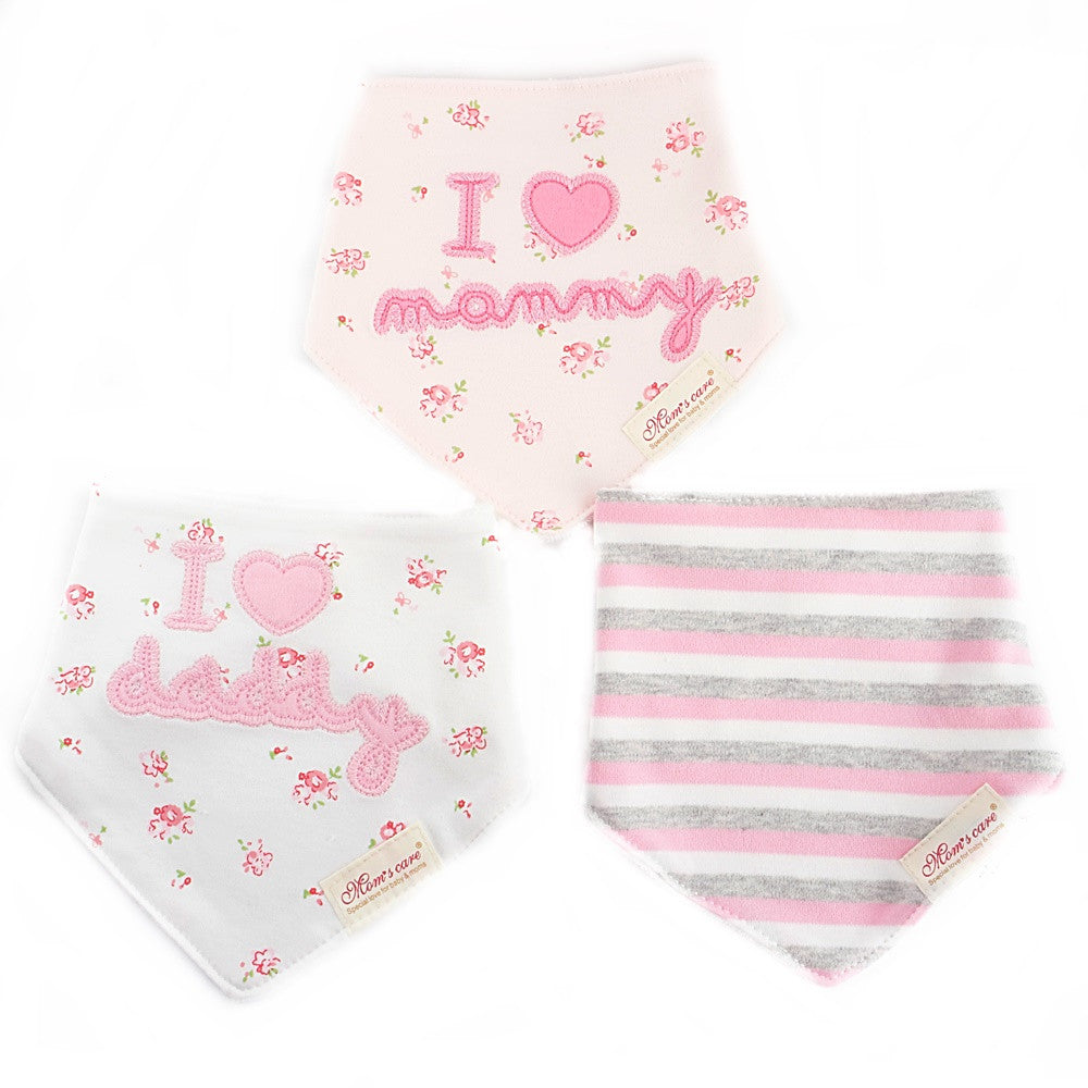 Blossomy I Love Mommy Bib Set of 3