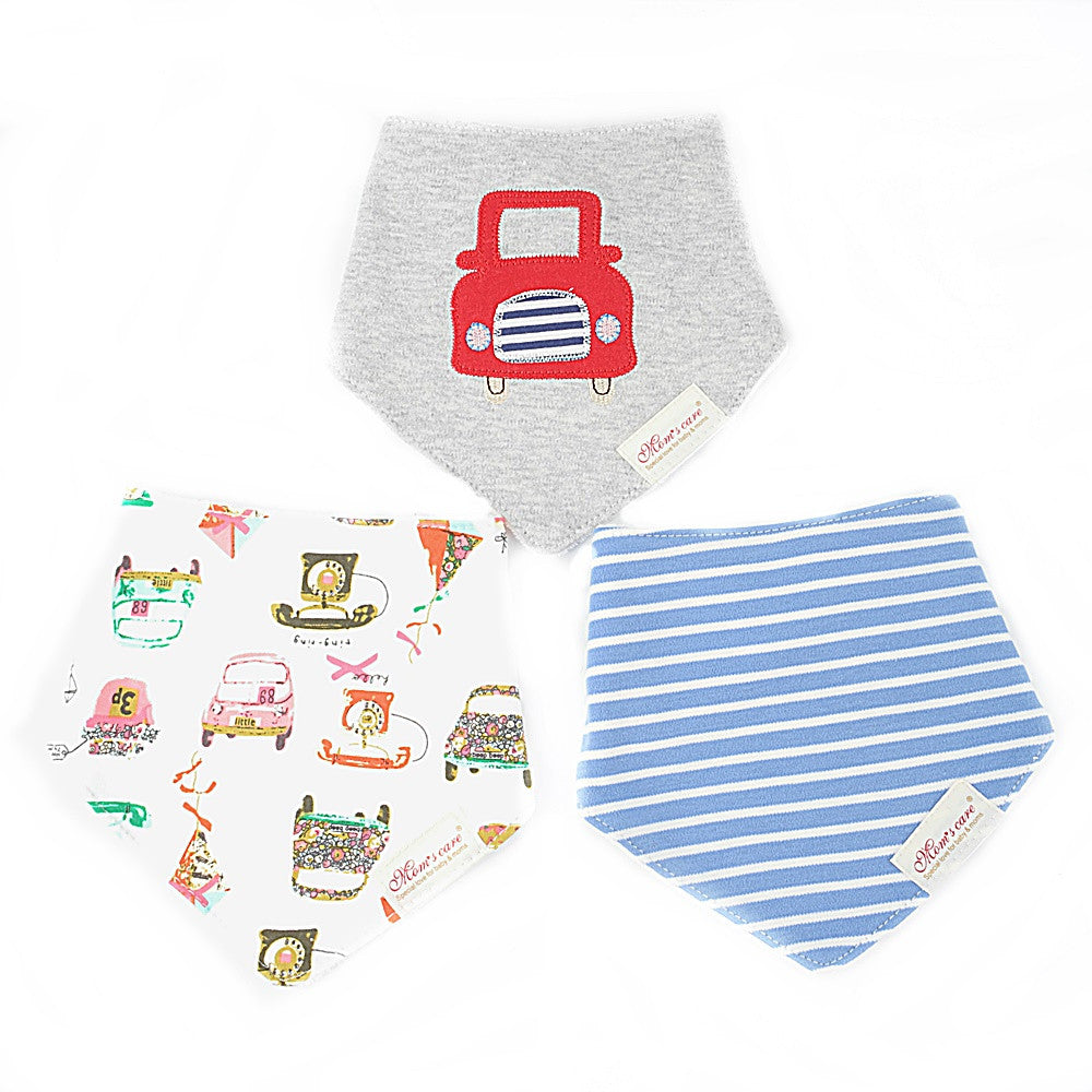 Colourful Vehicles Bib Set of 3