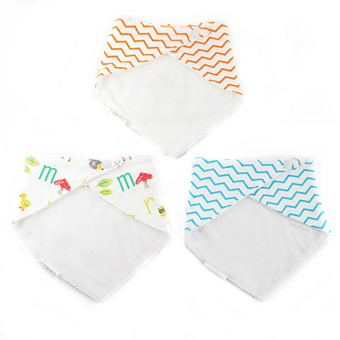 Wavy Giraffe Bib Set of 3