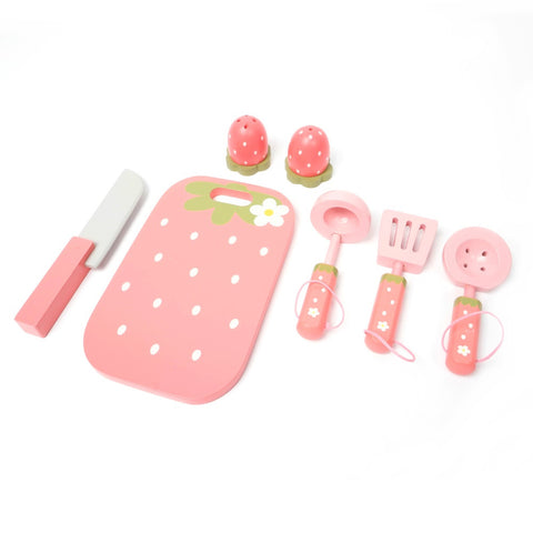 Mother Garden  Strawberry Pop-up Toaster with  Cooking Pots Playset
