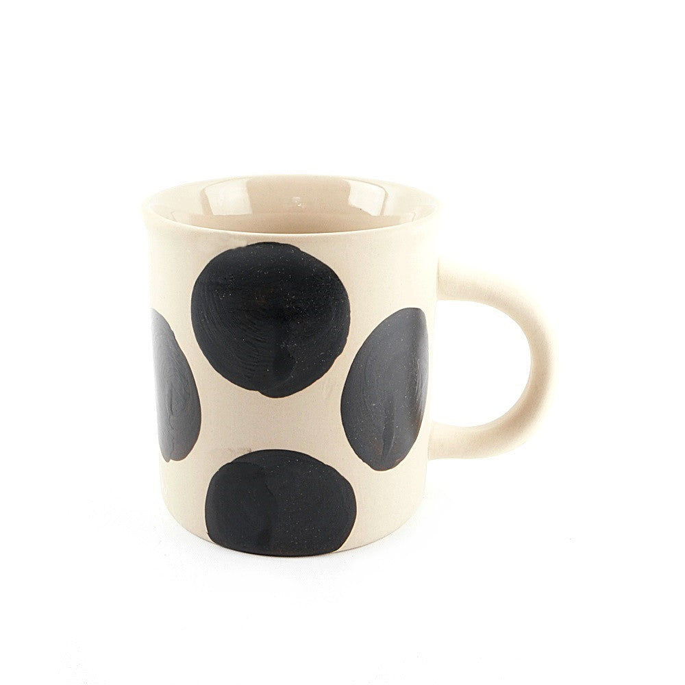 Cream Polka Dot Cup