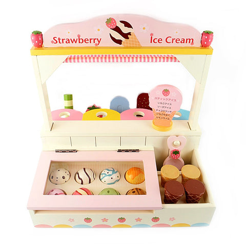 Wooden Playing House Series Ice Cream Shop