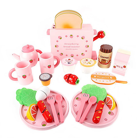 Mother Garden Strawberry Bread Toaster Toy Set