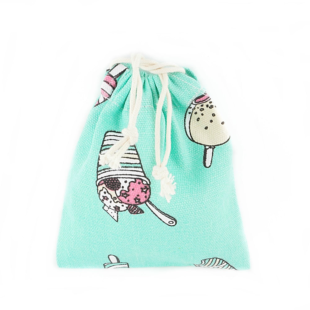 Ice Cream & Popsicle Canvas Pouch