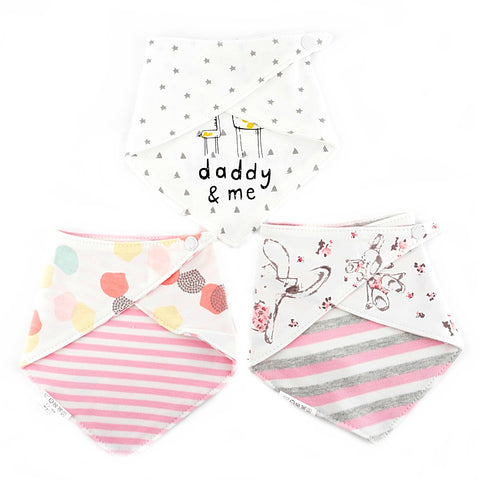 Bunny & Mummy Reversible Bib Set of 3
