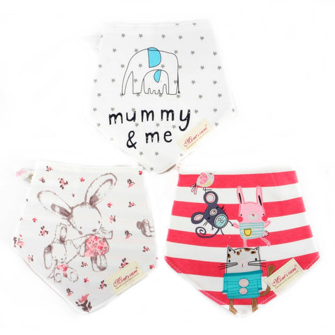 Animal and Friends Reversible Bib Set of 3