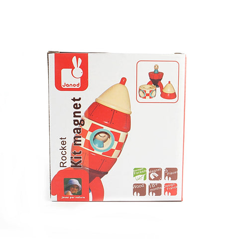 Janod Rocket Kit Magnetic Wooden Toy