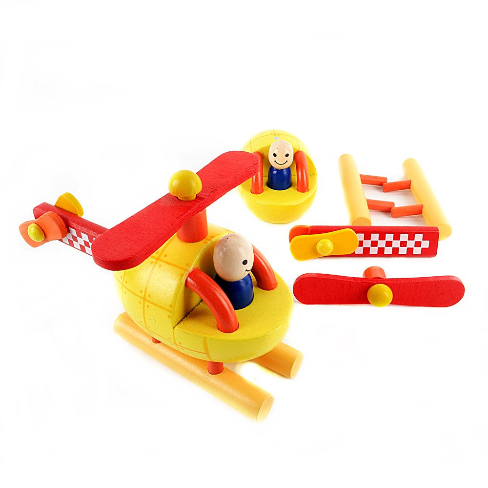 Janod Helicopter Kit Magnetic Wooden Toy