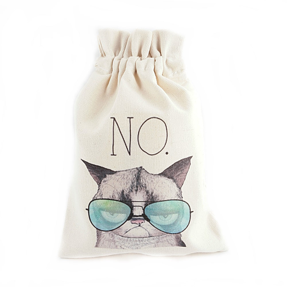No. Cool  Cat Canvas Pouch