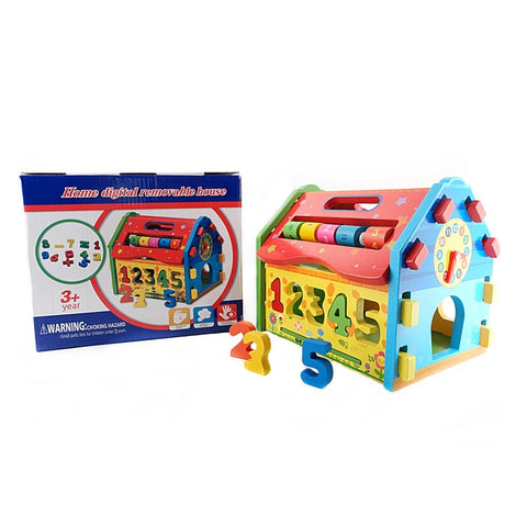 Fun Shape and Number Sorter Digital Removable House Toy