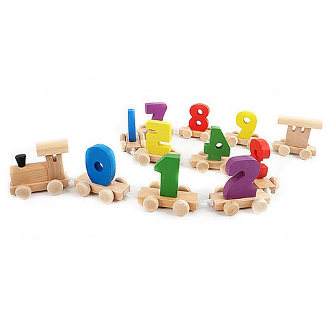 Educational Wooden Fun Numbers Train Toy