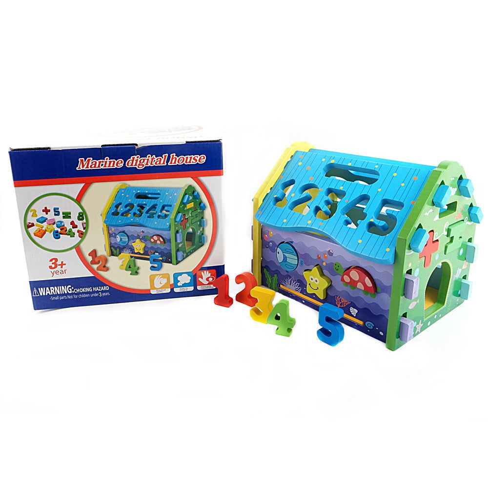 Shape and Number Sorter Marine Digital House Toy